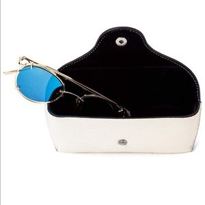 White Faux (soft) Leather Glasses Case
